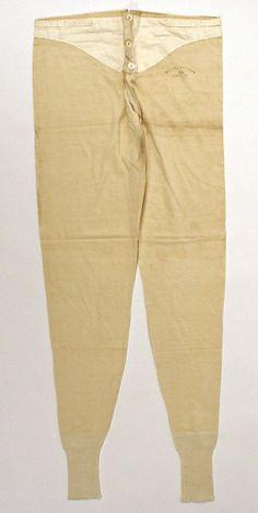 1890 Man's Drawers Culture: American Medium: cotton