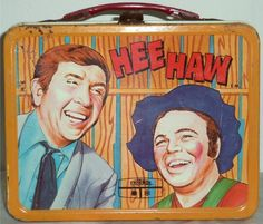Vintage 1970 Metal Hee Haw Lunchbox No Thermos Buck Owens Roy Clark Cornfield Co Retro Lunch Boxes, Lunch Box Thermos, Cool Lunch Boxes, Metal Lunch Box, Metal Box, Roy Clark, School Lunch Box, Vintage School, Vintage Tins