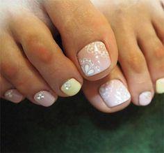 pastel toes!! cute