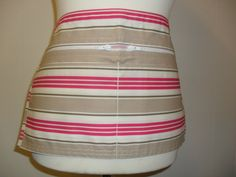 Deck Chair Stripe Vendor Apron / Market Trader Money Pocket by LDCcreations on Etsy