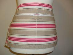 Deck Chair Stripe Vendor Apron / Market Trader Money Pocket by LDCcreations on Etsy