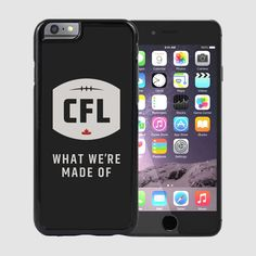 CFL WMMO iPhone 6 Case-Black / Étui pour iPhone 6 WWMO de la LCF. With this iPhone 6 case, be one of the first to represent the NEW logo and tagline of the Canadian Football League.  Because we know what happens when the energy of Canadian Football meets the passion of Canadian fans. Iphone 6 Cases Black, Iphone Cases, Canadian Football League, Fans, Passion, Shit Happens, Logo, Collection, Logos