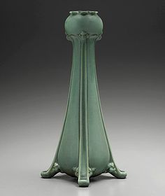 "Melville P. White for Gates Potteries (TECO) Terra Cotta, Illinois ""Chrysanthemum,"" ca. 1905 Stoneware with green glaze Gift of American Decorative Art 1900"