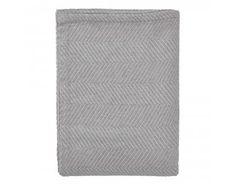 Tagesdecke Lixa, Grau-Melange in texturiertem Fischgrat, 100% Baumwolle, 240x260 cm, Urbanara, 65€