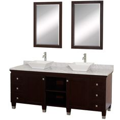 Premiere 72 Double Bathroom Vanity Set Espresso Vanities