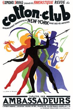 Vintage Poster - New York Cotton Club - Music and Dance - France