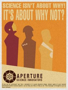Aperture brand propaganda is the best propaganda in the world.