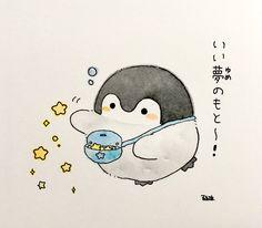 Kawaii Doodles, Kawaii Chibi, Kawaii Art, Kawaii Anime, Cute Little Drawings, Cute Kawaii Drawings, Cute Animal Drawings, Penguin Drawing, Penguin Art
