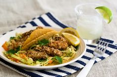 Fish tacos - with panko crust and a fresh slow