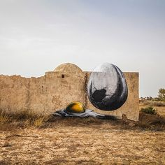 Belgian street artist ROA is in Tunisia with 150 other participating artists for Galerie Itinerrance's Djerbahood open air museum project in Djerba, Tunisia. #streetart #roa #tunisia by saatchi_gallery