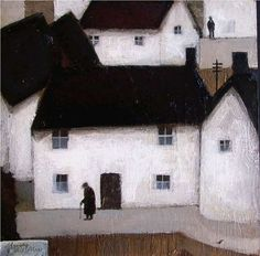 by John Caple -- 'Mendip Hill Village', 2005. *The Mendip Hills (commonly called the Mendips) is a range of limestone hills to the south of Bristol and Bath in Somerset, England.