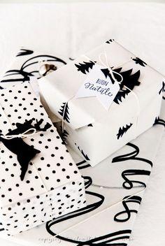 Inspiración: Envoltorios en blanco y negro