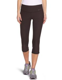 Nike Lady Legend Slim Poly Capri Running Tights  Medium  Black -- More info could be found at the image url. (This is an affiliate link) #WomensActivewear