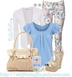 """""""Baby Blue Floral this wis a really cute easter outfit"""