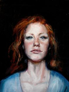 Rebecca Wood - self portrait, oil painting #OilPaintingPeople