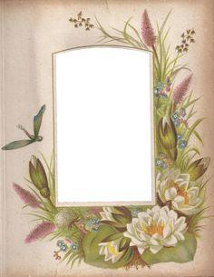Victorian Photo Album Floral Frame ~ Zibi Vintage Scrap
