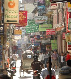 Kathmandu, Nepal. I would die for a team zahar lunch at the Mexican joint right now!