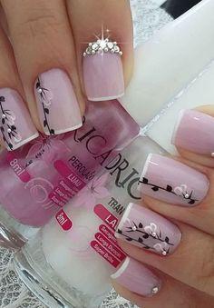 41 latest nail trends and designs 2019 014 Acrylic Nail Designs, Nail Art Designs, Acrylic Nails, Fingernail Designs, Fancy Nails, Pretty Nails, Winter Nails, Spring Nails, Valentine Nail Art