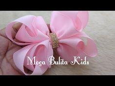 Laço Bambolê fita n9 Janaína Gonçalves - YouTube Diy Hair Bows, Ribbon Hair, Ribbon Bows, Ribbon Sculpture, Goncalves, Bow Tutorial, Fabric Bows, Diy Hairstyles, Kids And Parenting