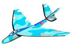 25 Inch FlexWing Glider - F-18 Hornet w/Sky Camo Pattern
