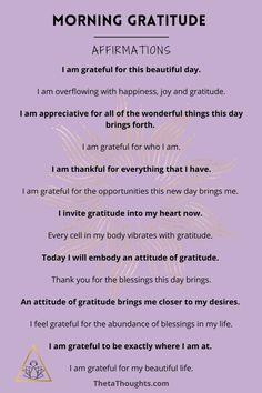 Positive Affirmations Quotes, Self Love Affirmations, Affirmation Quotes, Positive Quotes, Miracle Morning Affirmations, Healing Affirmations, Positive Life, Grateful Quotes, Gratitude Quotes