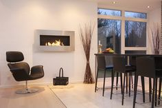 modern architecture - fireplace - elements fires - decoflame - new york empire - flueless fireplace