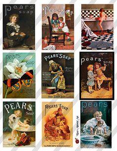 Ephemera Collage Pears Soap Advertisements