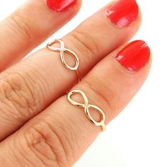 Infinity knuckle midi ring