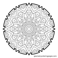 Geometric Coloring Pages, Blank Coloring Pages, Colouring Pics, Mandala Coloring Pages, Printable Coloring Pages, Coloring Books, Zen Doodle Patterns, Zentangle Patterns, Doodle Pages