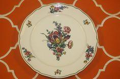 Villeroy Boch Alt Strassburg Dinner Plates No 1 Green Trim Flowers Set of 4  | eBay