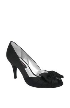 Nina 'Forbes' Peep Toe Pump available at comes in silver, navy & yellow--all good bridesmaid shoes-- look comfy Satin Pumps, Peep Toe Pumps, Women's Pumps, Black Bridesmaid Shoes, Bridal Shoes, Wedding Shoes, Nordstrom, Nina Shoes, Women Oxford Shoes