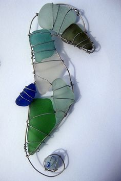 sea glass seahorse....maybe for the pile of sea glass I lugged home from Hawaii?!