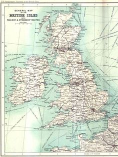 "compulsivecartographer: ""  British railways and steamship routes in 1900 """