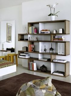 A modern bookcase for any room. London Medium Bookcase by TemaHome Modular Bookshelves, Cube Bookcase, Modern Bookcase, Diy Bookcases, Cool Bookshelves, Office Furniture, Modern Furniture, Furniture Showroom, Furniture Chairs
