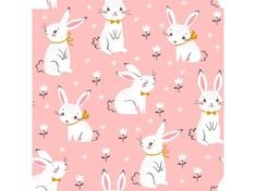 Find Seamless Pattern Cute White Bunnies On stock images in HD and millions of other royalty-free stock photos, illustrations and vectors in the Shutterstock collection. Thousands of new, high-quality pictures added every day. Pattern Cute, White Bunnies, Decoupage, Pink Abstract, Abstract Art, Pattern Illustration, Illustrations, Painting For Kids, Free Vector Art