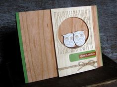 Woodgrain Home Sweet Home Card by @Jess Liu Witty
