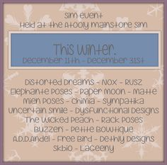 'This Winter' Event starts today! by Miranda❤roo [Atooly], via Flickr