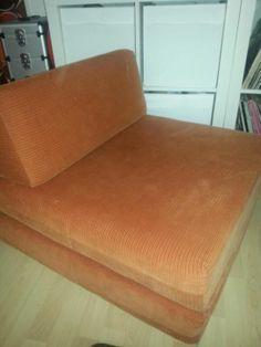 Jaren 70 stoel / logeerbed - € 50,00