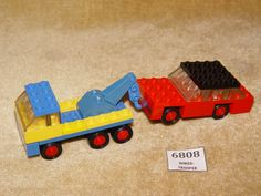 LEGO Sets: Legoland: Vehicle: Traffic: 651-1 Tow Truck and Car (1972)100% *RETRO