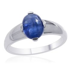 Liquidation Channel | Himalayan Kyanite Men's Ring in Platinum Overlay Sterling Silver (Nickel Free)