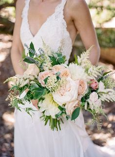 """A dreamy summer al fresco California wedding with ivory, blush and lavender hues 
