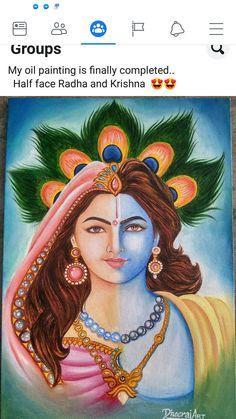 Krishna Drawing, Krishna Painting, Krishna Art, Kerala Mural Painting, Indian Art Paintings, Fantasy Paintings, Lord Krishna Images, Krishna Pictures, Herb Embroidery