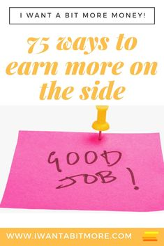 75 easy ways to make money on the side of your day job.  Want more money - try one of these side hustles or money raisers.   #earnextramoney #moneyhacks #sidehustles