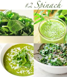 8 FOODS FOR HEALTHY SKIN. No. 2 - SPINACH