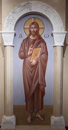 Росписи архимандрита Зинона в нижнем храме Феодоровского собора в Санкт-Петербурге: affresco