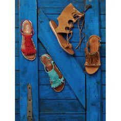 Sandale, Schnürung, Boho-Style Vorderansicht