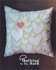 Hi All! Here's a simple Applique Hearts Pillow tutorial. I did this post over at Moda Bakeshop which means you can find a printable version here. Depending on what fabrics you use, the pillow…