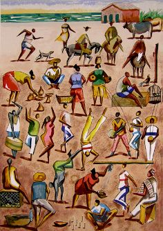 Folclore (de Caribé) Elfi Kürten Fenske: Carybé (Hector Julio Páride Bernabó) - A arte e a paixão pela Bahia
