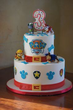 The 20 Best Ideas for Paw Patrol Birthday Cake Ideas . If your birthday celebration … Paw Patrol Birthday Cake, 3rd Birthday Cakes, Birthday Cake Card, Paw Patrol Party, Birthday Parties, 4th Birthday, Birthday Ideas, Bolo Do Paw Patrol, Torta Paw Patrol