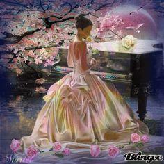 Beautiful Fantasy Art, Beautiful Gif, Life Is Beautiful, Beau Gif, World Gif, Long Dress Fashion, Good Night Prayer, Amazing Gifs, Gif Photo